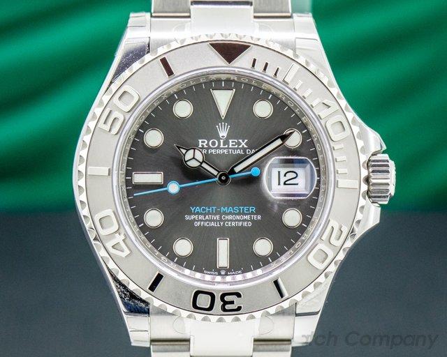 Rolex 126622 Yacht Master SS Dark Rhodium Dial / Platinum Bezel UNWORN