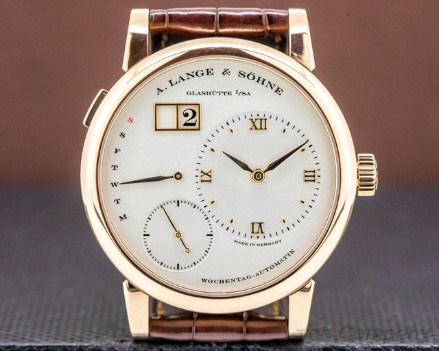 A. Lange and Sohne 320.032 Lange 1 Daymatic 18K Rose Gold / Deployant Buckle