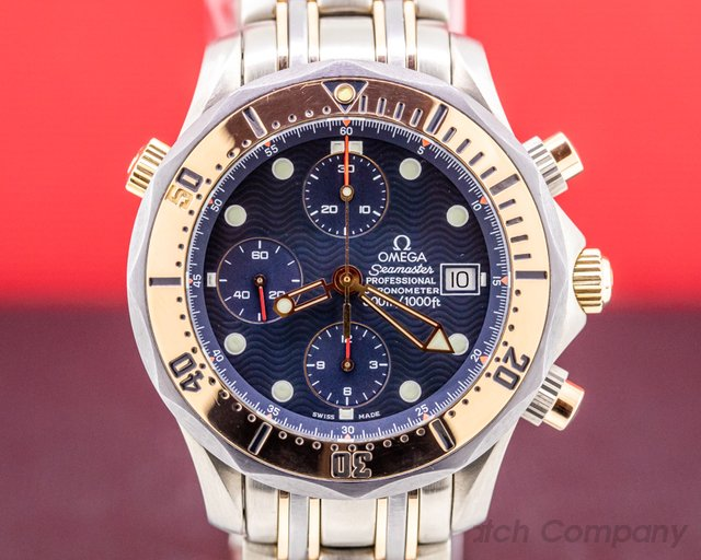Omega 2296.80.00 Seamaster Chronograph Titanium / 18K Rose Gold