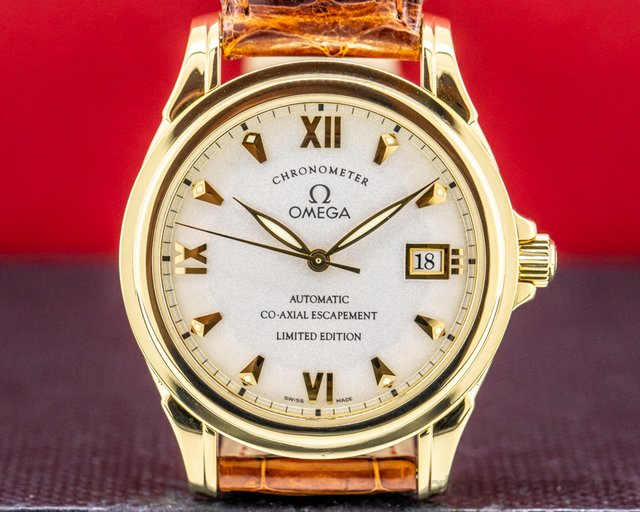 Omega 2500 DeVille Co Axial 18K Yellow Gold Limited