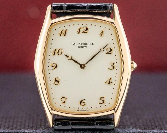 Patek Philippe 3842 Gondolo Ultra Thin 18K Rose Gold / Porcelain Dial