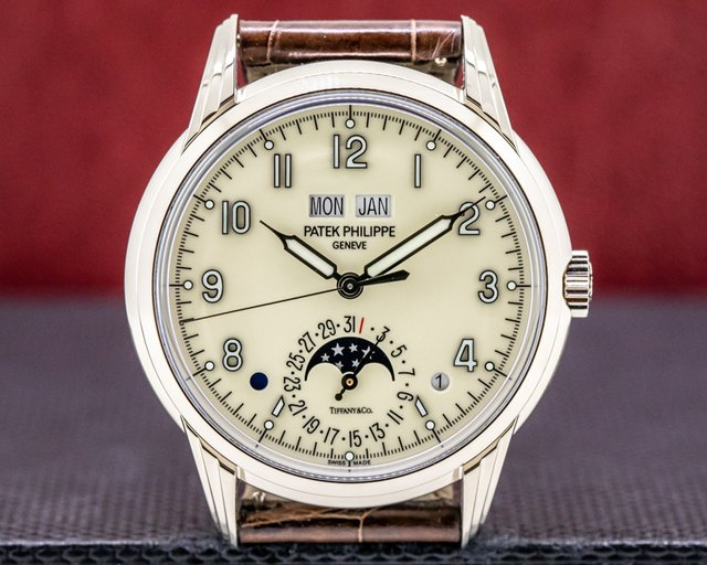 "Patek Philippe 5320G-001 TIFFANY Perpetual Calendar Grande Complication 18K White Gold ""TIFFANY & CO"""