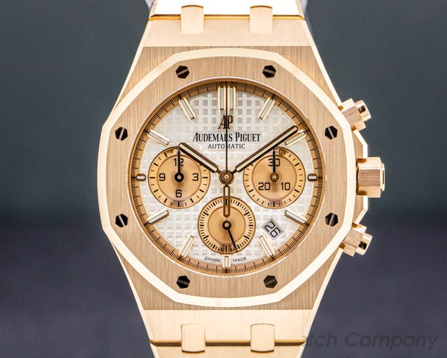 Audemars Piguet 26315OR.OO.1256OR.01 Royal Oak Chronograph 18k Rose Gold 38MM