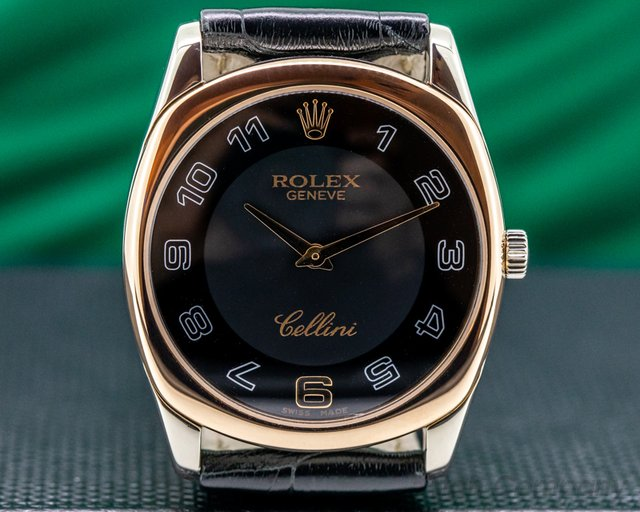 Rolex 4233-9bic Cellini Danos Rose / White Black Dial