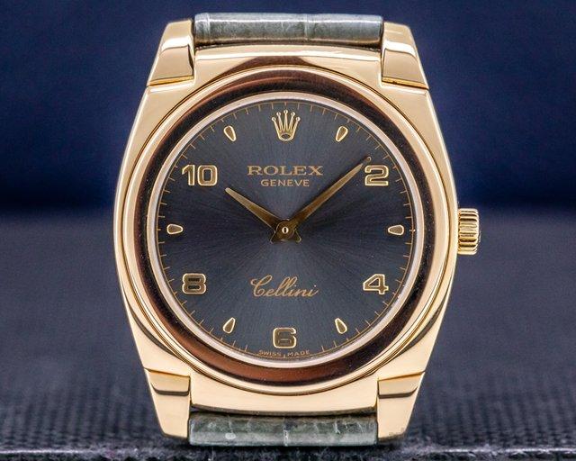Rolex 5330/5 Cellini Cestello 18K Rose Gold / Grey Dial