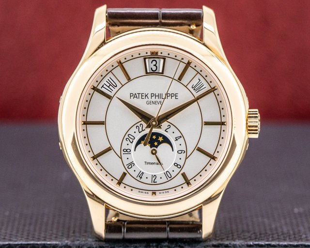 "Patek Philippe 5205R-001 TIFFANY Annual Calendar Silver Dial 18K Rose Gold ""TIFFANY & CO"""