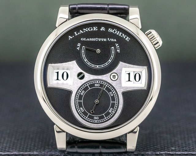 A. Lange and Sohne 140.029 Zeitwerk 140.029 18K White Gold FULL SET