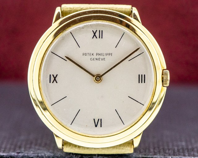 "Patek Philippe 2501 2501 ""Disco Volante"" Manual Wind 18k YG"