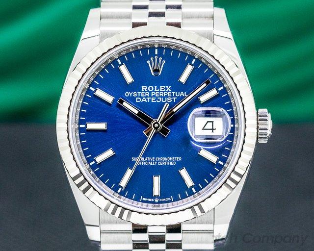 Rolex 126234 Datejust Blue Stick Dial / Jubilee Bracelet
