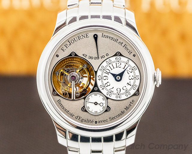 "F. P. Journe Tourbillon Souverain Pla Tourbillon Souverain Remontoir ""Dead Beat Seconds"" Platinum BRACELET 40M"