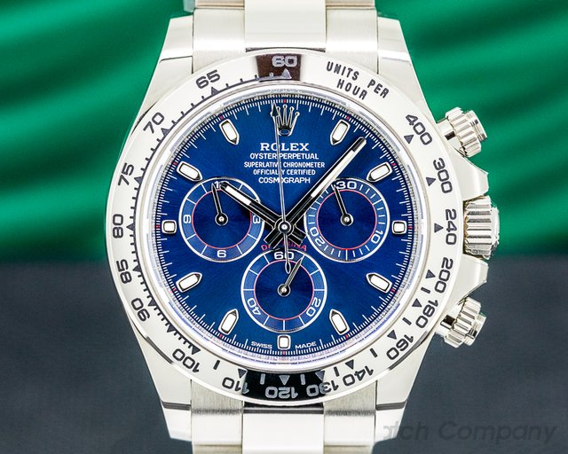 Rolex 116509 Daytona 116509 Blue Dial 18K White Gold 2019