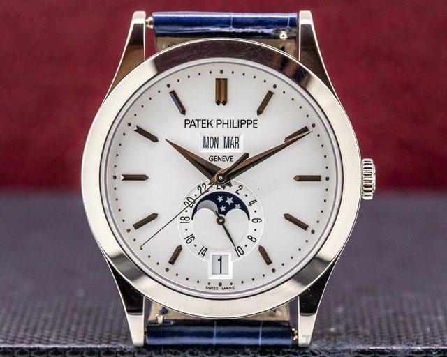 Patek Philippe 5396G-011 Annual Calendar 5396G Silver Dial 18K White Gold