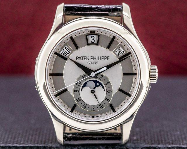 Patek Philippe 5205G-001 Annual Calendar 5205G Silver Dial 18K White Gold