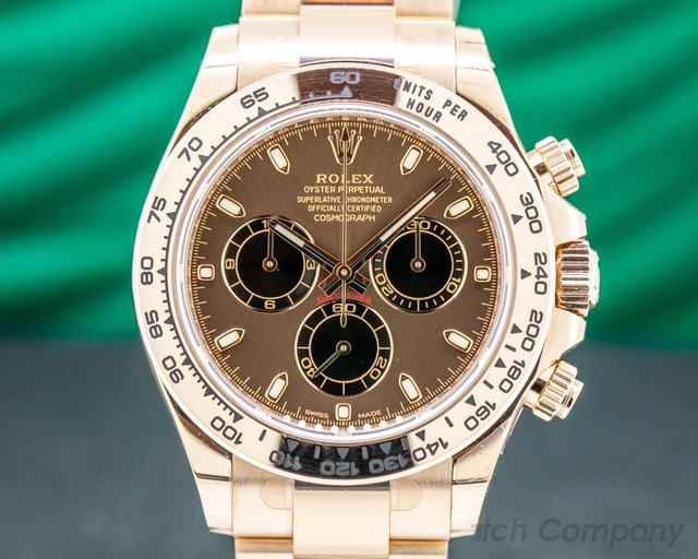 Rolex 116505 Daytona Everose Chocolate/Black Dial 18K Rose Gold / Bracelet 2020