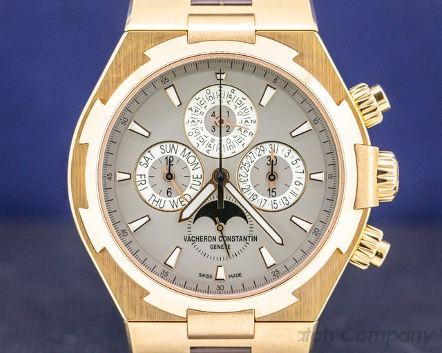 Vacheron Constantin 49020/000R-9753 Overseas Perpetual Chronograph Rose Gold FULL SET