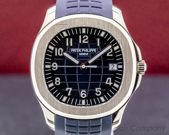 Patek Philippe 5168G-001 Aquanaut 5168G 18K White Gold / Blue Dial 2020