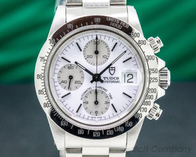 "Tudor 79180 Tudor Oysterdate Chronograph ""Big Block""  Albino FULL SET"