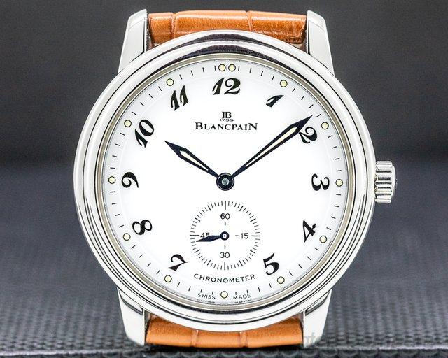Blancpain 7002-1127-55 Ultra Thin White Dial Manual Wind Chronometer SS