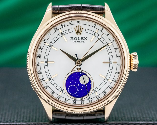 Rolex 50535 Rolex Cellini Moonphase 535 18K Rose Gold