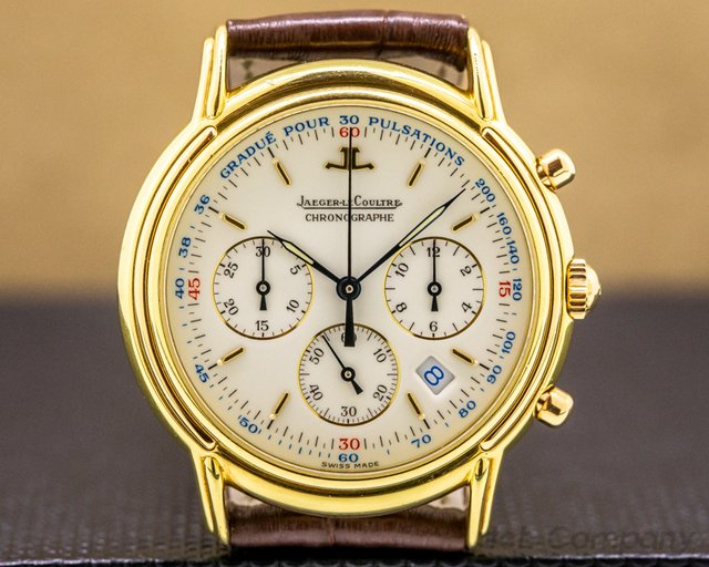 Jaeger LeCoultre 145.202 Master Chronograph Yellow Gold