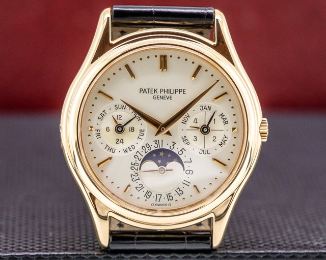 Patek Philippe 3940R Perpetual Calendar Rose Gold Silver Dial EARLY