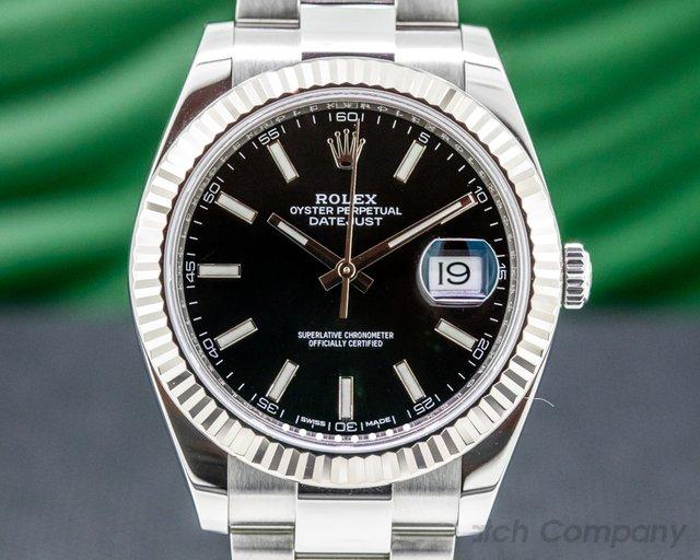 Rolex 126334 Datejust 41 Black Stick Dial SS