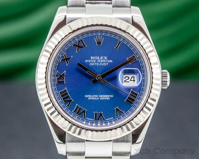 Rolex 116334 Datejust 116334 II Blue Dial  Romans SS