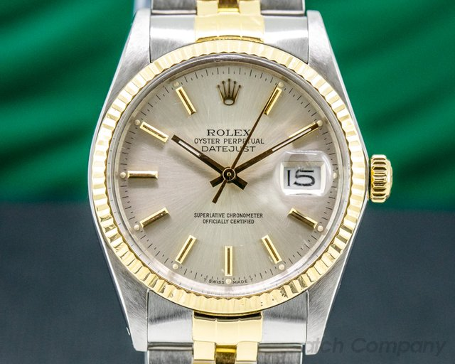 Rolex 16013 Datejust Silver Dial SS / 18K