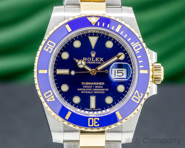 Rolex 116613LB Submariner Ceramic Blue Dial 18K / SS 2019