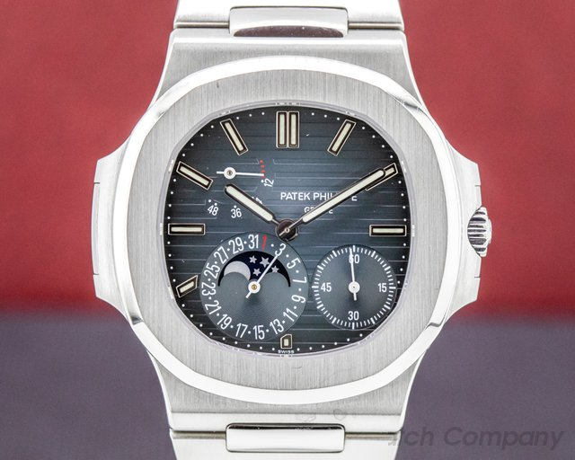 Patek Philippe 5712/1A-001 Jumbo Nautilus 5712 Moonphase Power Reserve SS