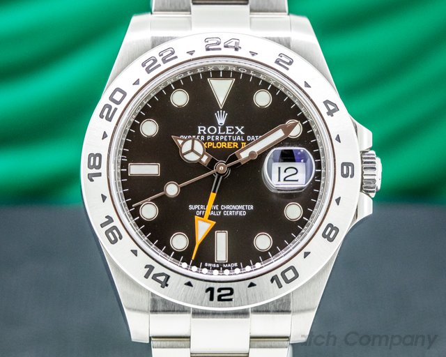 Rolex 216570 Explorer II Black Dial SS / FULL SET 2019