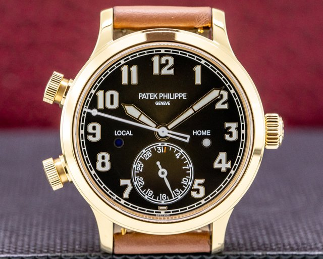 Patek Philippe 7234R-001 Mid Size 7234R Calatrava Pilot Travel Time 18k Rose Gold 2020