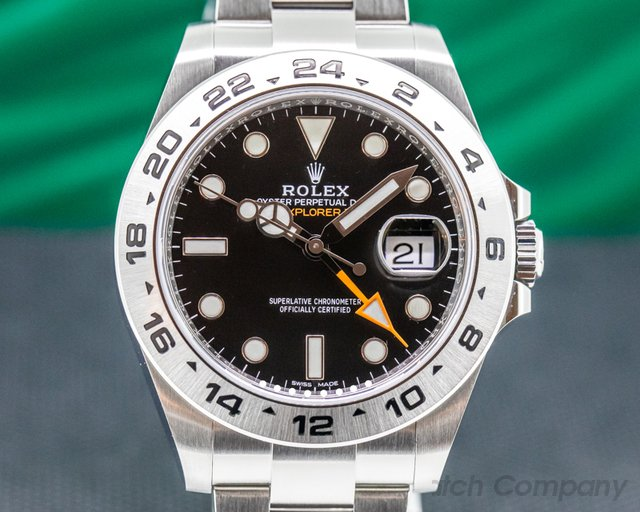 Rolex 216570 Explorer II Black Dial SS / FULL SET