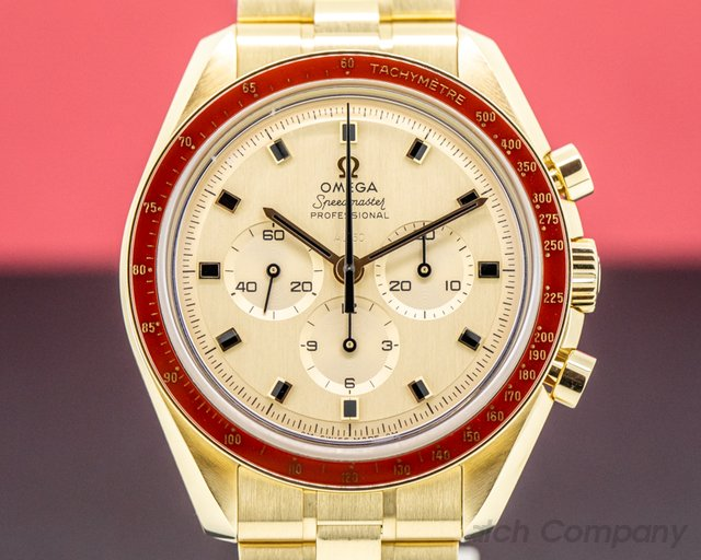 Omega 310.60.42.50.99.001 Apollo XI 50th Anniversary Speedmaster 18K Yellow Gold