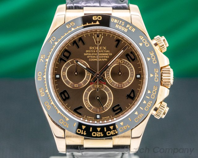Rolex 116515LN Cosmograph Daytona 116515LN 18K Rose Gold / Chocolate Dial