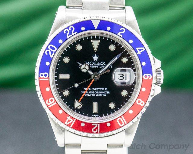 Rolex 16710 GMT Master II SS Red / Blue Pepsi Bezel SWISS ONLY