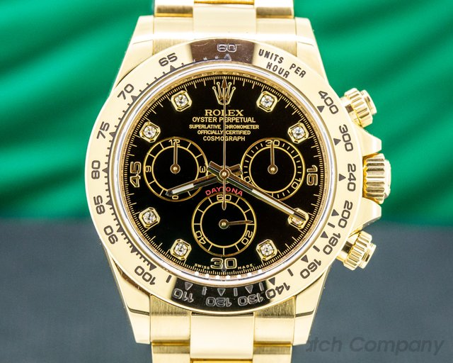 Rolex 116508 Daytona 116508 Black Diamond Dial Yellow Gold / Bracelet