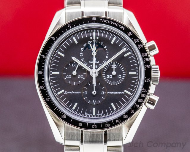 Omega 3576.50.00 Speedmaster Moon Phase Manual Wind SS