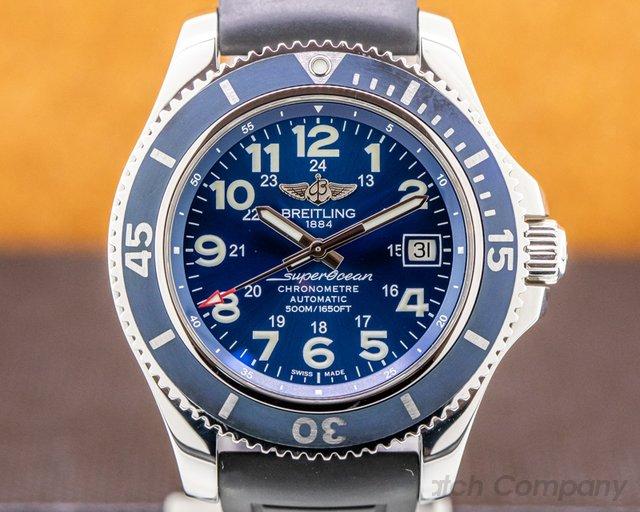 Breitling A17365D1 Superocean II Blue SS / Rubber 2019