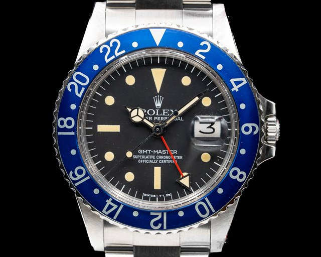 """Rolex 1675 Blueberry Radial  GMT Master """"Blueberry"""" MKIII Radial Dial SS WOW"""