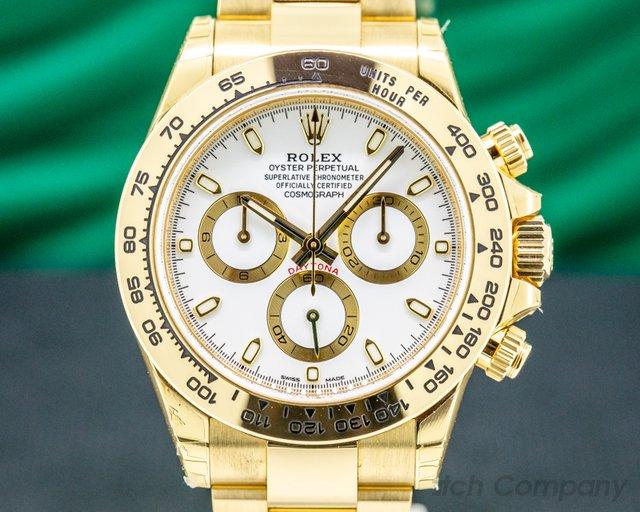 Rolex 116508 Daytona 116508 18k Yellow Gold / Bracelet White Dial