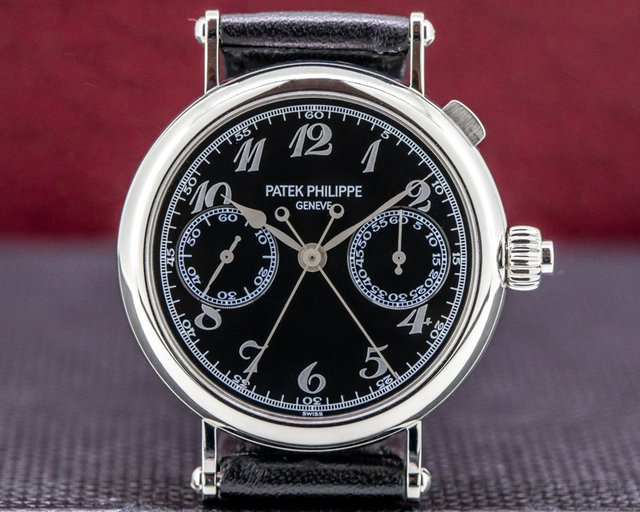 Patek Philippe 5959P Split-Seconds 5959P Chronograph Platinum Black Dial RARE