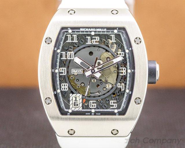 Richard Mille RM005 AF WG RM005 Automatic Skeleton 18K White Gold