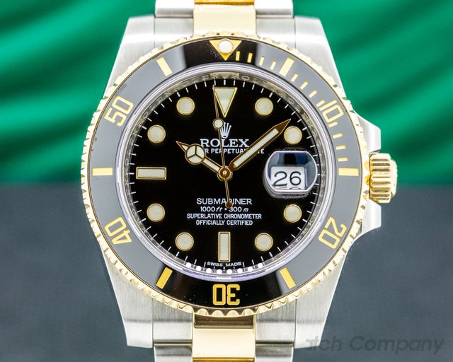 Rolex 116613LN Submariner Ceramic Black Dial 18K / SS