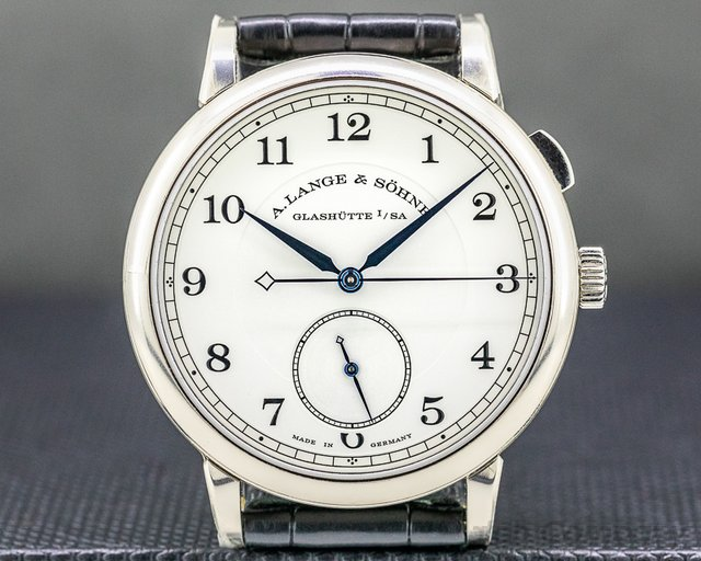 """A. Lange and Sohne 297.026 1815 Homage to Walter Lange """"Jumping Seconds"""" Limited 18K WG"""