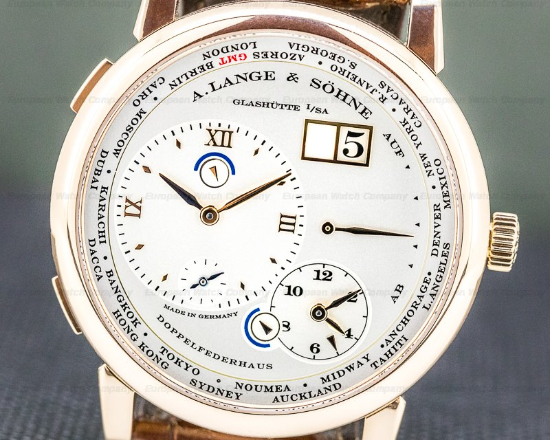 A. Lange and Sohne 116.032 Lange 1 116.032 Time Zone 18K Rose Gold