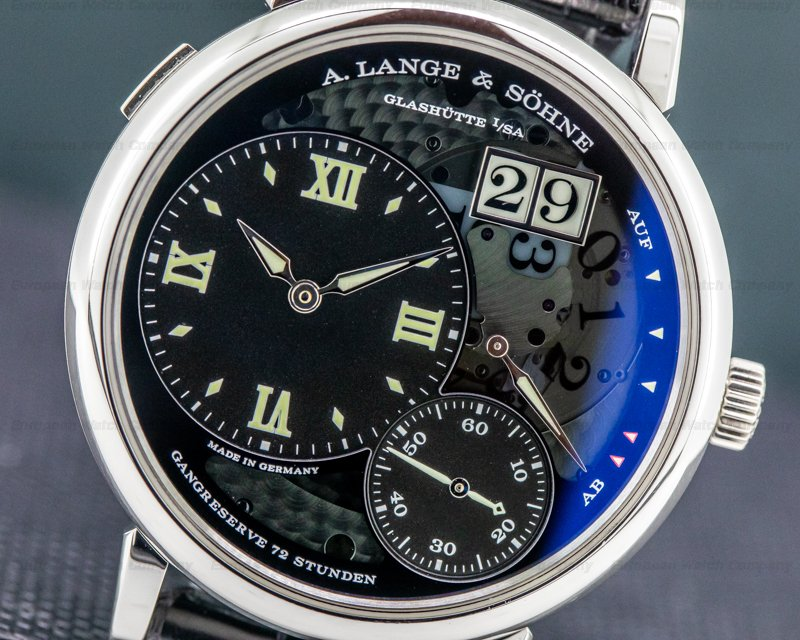 A. Lange and Sohne 117.035 Grand Lange 1 Lumen Platinum FULL SET + DEPLOYMENT