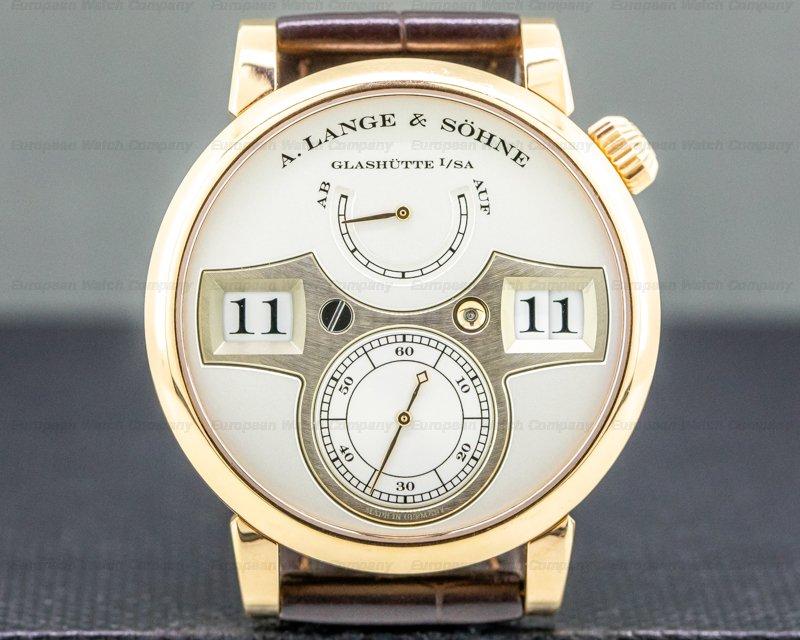 A. Lange and Sohne 140.032 Zeitwerk 140.032 18K Rose Gold / Deployant