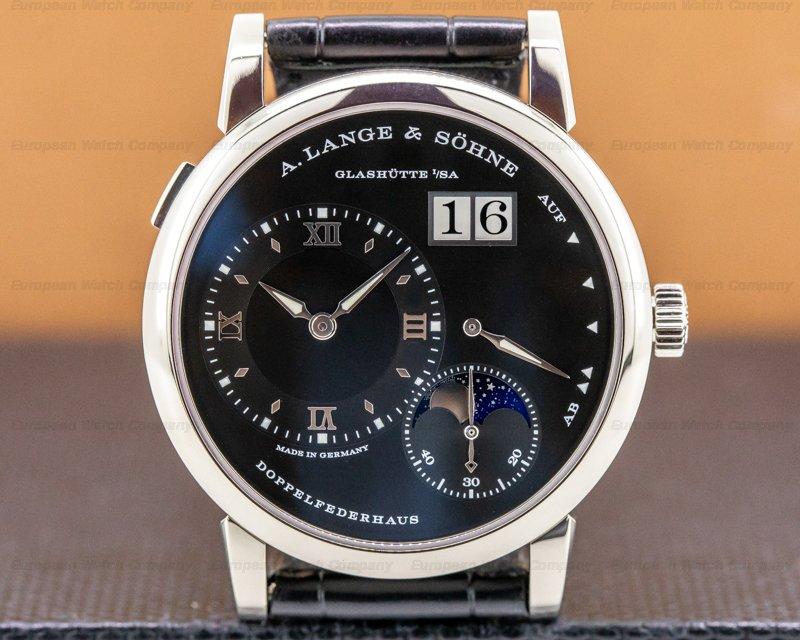 A. Lange and Sohne 192.029 Lange 1 Moon 192.029 18K White Gold Black Dial / Day Night
