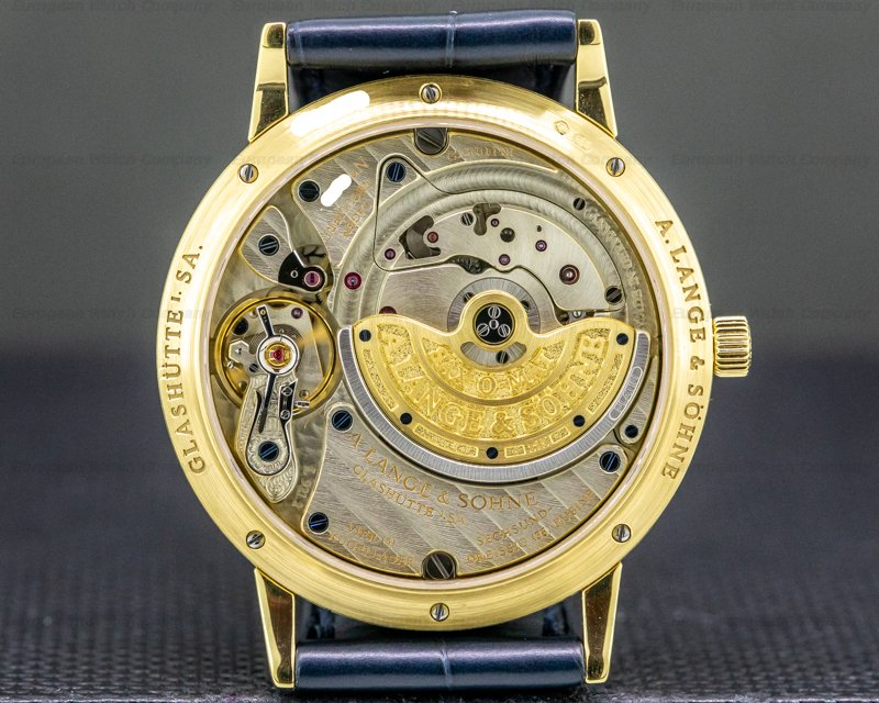 A. Lange and Sohne 301.021 Langematik SAX-O-MAT Automatic 18K Yellow Gold
